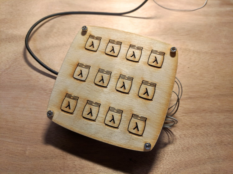 A picture of the Laser-cut Keypad